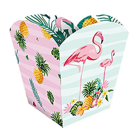 Cachepot Pequeno Festa Flamingo - 8 Unidades