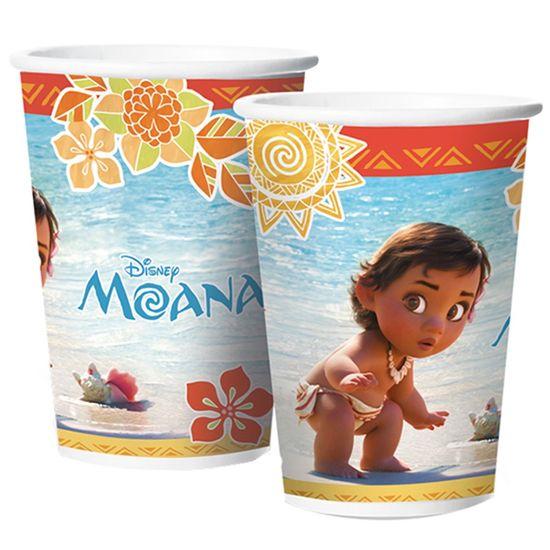 Festa Moana - Copo de Papel 180ml Moana Baby - 8 Un
