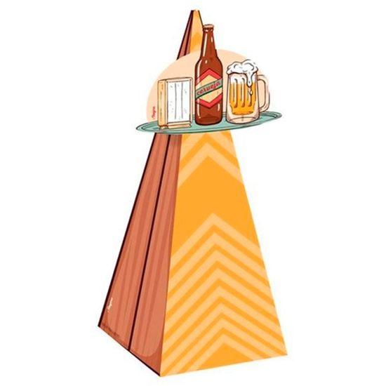 Cone com Aplique Festa Boteco - 8 Unidades