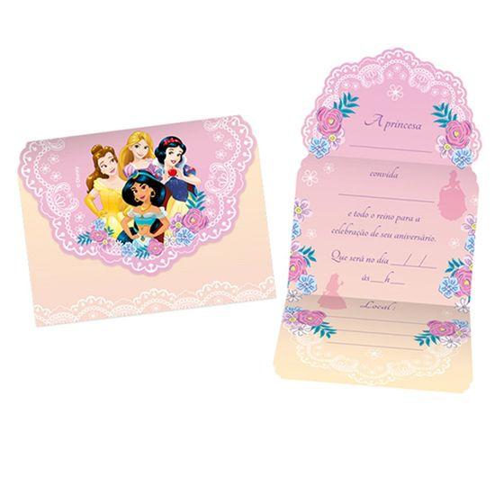 Festa Princesas Disney - Convite Grande Jardim das Princesas - 8 Un