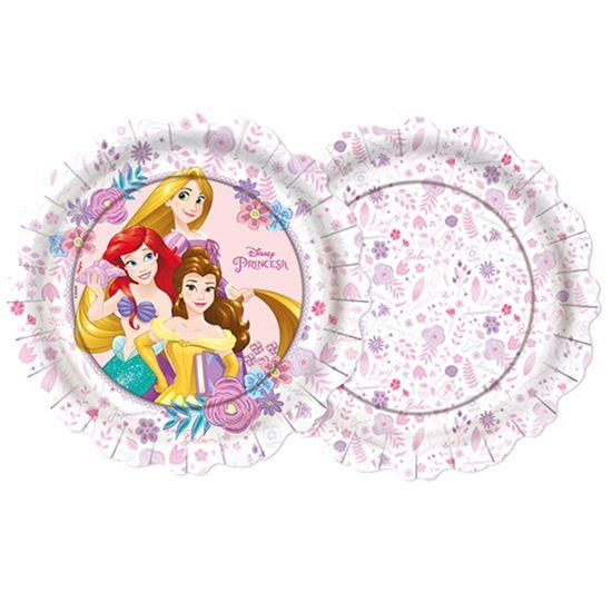 Festa Princesas Disney - Prato 18cm Jardim das Princesas - 8 Un