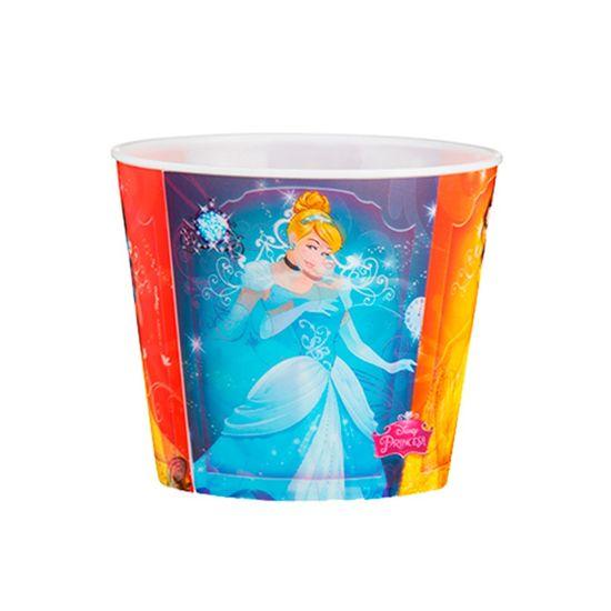 Festa Princesas Disney - Balde de Pipoca Plástico3D Princes Debut 1L