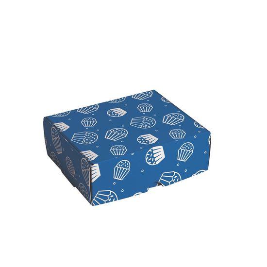 Caixa para 4 Brigadeiro Brigadeiro Azul 9X9X4,5 - Pacote com 10 Unidades