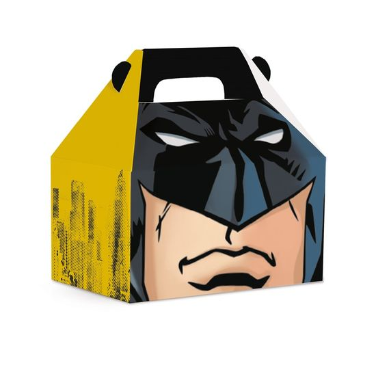 Caixa Maleta Kids Batman P 9X6X9 - Pacote com 10 Unidades