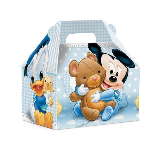 Caixa Maleta Kids Mickey Baby P 9X6X9 - Pacote com 10 Unidades