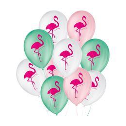 Balao-de-Festa-Latex-Decorado-Flamingo---Sortido---25-Un