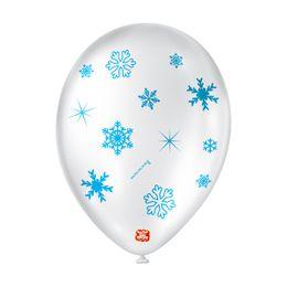 Balao-de-Festa-Latex-Decorado-Floco-de-Neve---Branco-Cintilante---25-Un