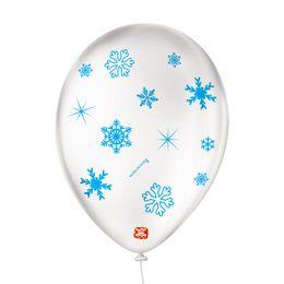 Balao-de-Festa-Latex-Decorado-Floco-de-Neve---Branco-Cintilante