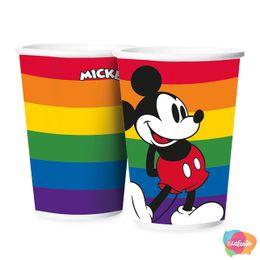 Copo-Papel-180ml-Festa-Mickey-Arco-iris---12-Un