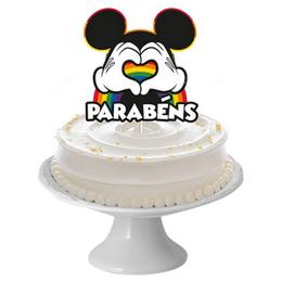 Decoracao-Topo-de-Bolo-Festa-Mickey-Arco-iris
