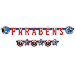 Faixa-Parabens-Festa--Capitao-America