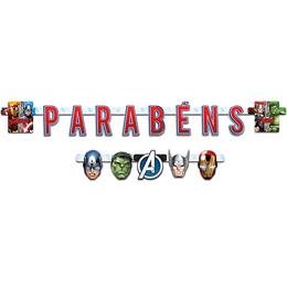 Faixa-Parabens-Vingadores-Animated