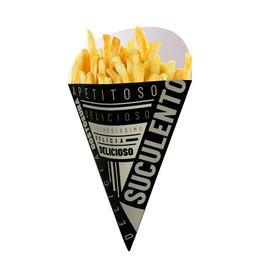 Caixa-Embalagem-Cone-Batata-Fritas---Black---50-Un