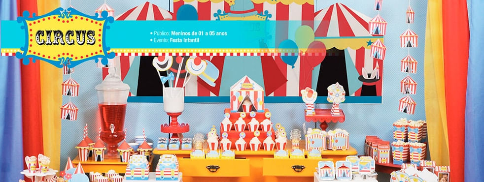 Tema Infantil Circus Cromus Festa