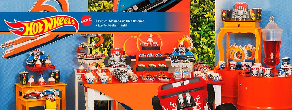 Tema Infantil Hot Wheels Cromus Festa