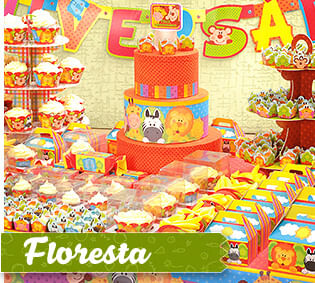 Tema Infantil Floresta Cromus Festa